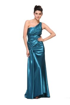 One Shoulder Formal Gown Prom Dress Full Length Long Bridesmaids - The Dress Outlet - 6