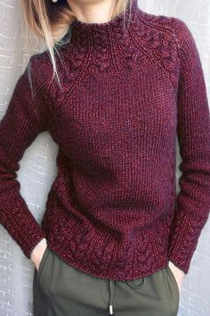 Style Hot F/W Solid Knitted Long Sleeves Sweaters - shopingnova History of Knitting String spinning, weaving and stitching careers suc. Vintage Sweaters, Vintage Shirts, Vintage Tops, Knitting Terms, Knitting Wool, Green Turtleneck, Diy Mode, Damen Sweatshirts, Green Cotton