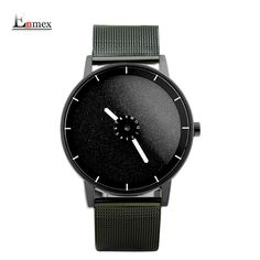 2017 men's gift Enmex special design steel wristwatch cute rotation second creative Shining face simple fashion quartz watches #Affiliate