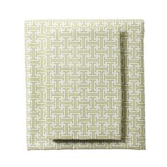 """Grass Trellis Sheets for our Designer Bedding 