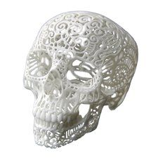 Great birthday present for like 10 people in my life...3D Printed Filigree Skull
