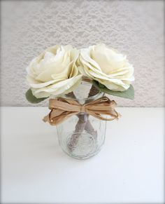 Madison Flower Pens with Mason Jar - Set of 2 - Signing Pen, Weddings, Gifts under 30,  $30.00, via Etsy.