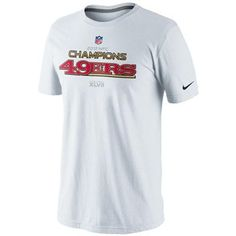 My son would love this! And with his birthday coming up on 2/17 its on his list! Nike San Francisco 49ers 2012 NFC Champions Trophy Collection T-Shirt - White