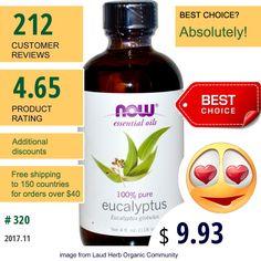 Now Foods #NowFoods #BathBeauty #EucalyptusOil