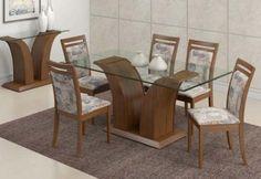 mesa de jantar com seis cadeiras