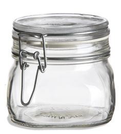 Bale Square Glass Jar 19oz w/ Swingtop Lid