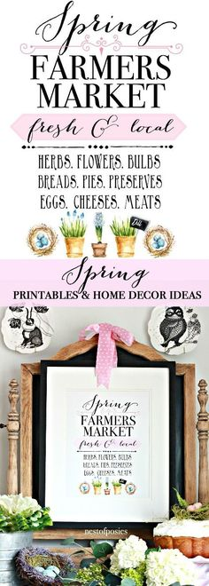 Spring Printables and Spring Home Decor Ideas - Nest of Posies Spring Home Decor, Diy Home Decor, Spring Crafts, Farmers Market, Target Home Decor, Easy Entertaining, Porch Decorating, Decorating Tips, Blog