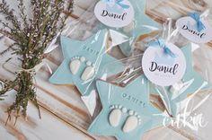 Galletas decoradas para bautizos niño, galletas forma de estrella