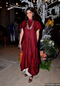 Chola designs by Sohaya Misra maroon tunic Sonam Kapoor fashion