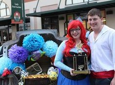 "I wouldn't normally post something like this but I'm still so excited about it!  Hubby and I never do anything for Halloween but decided to participate in our local mustang club's annual trunk or treat this year and won first place with our ""Under the Sea"" themed trunk and Ariel/Prince Eric costumes.  We had so much fun!"