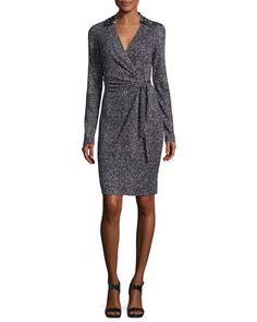 Jelsa+Silk+Jersey+Faux-Wrap+Dress+by+Diane+von+Furstenberg+at+Neiman+Marcus.