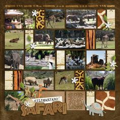 Kilimanjaro Safaris - Page 3 - MouseScrappers.com .... a great way to use all of those small animal pics