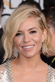 Golden Globes 2015 Celebrity Hairstyles and Makeup: Sienna Miller  #hair #hairstyles