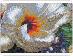 Mosaic flower gold | mozaiek utrecht