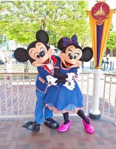 The perfect pair, Mickey & Minnie Mouse.