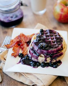 Some the Wiser: Pineapple Blueberry Sauce with Waffles