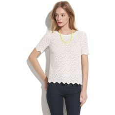 MADEWELL Scallop Lace Top ($80) found on Polyvore