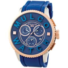 Review Mulco POST MWATCH 3D COLLECTION Chronograph Unisex Watch MW3-10302-043 online - Gold-tone steel and IPB case. Blue silicon strap. Blue dial. Swiss quartz movement. Chronograph. Date. Water resistant 50 meters. Case...