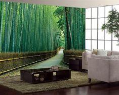 Decorar las paredes con enormes murales. Crea una profundidad excelente ;)