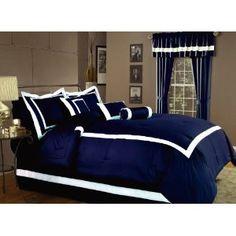 Better Navy & White Bed Set
