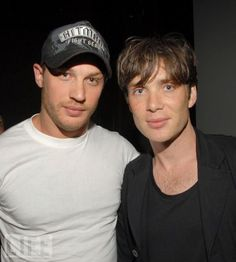 Tom Hardy and Cillian Murphy. Tom Hardy and Cillian Murphy Hot Men, Sexy Men, Hot Guys, Pretty Men, Gorgeous Men, Beautiful People, Tom Hardy Photos, Cillian Murphy Peaky Blinders, Sir Anthony Hopkins
