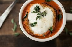 Roasted Tomato Soup (The Sprouted Kitchen Cookbook)