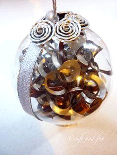 Pallina decorativa realizzata con riciclo creativo nespresso