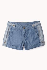 Life In Progress Chambray Shorts #Forever21 #DestinationVacation #SweetEscape