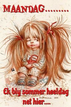 RARE Cute girl with long hair with bag by Chenina Russian modern postcard Art Fantaisiste, Weird Pictures, Cute Little Girls, Whimsical Art, Cute Illustration, Cute Drawings, Cute Art, Art For Kids, Fantasy Art