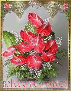 Animated Gif by Lady Moon Birthday Name, Happy Birthday, Name Day, Cool Websites, Animated Gif, Christmas Wreaths, Floral Wreath, Birthdays, Animation