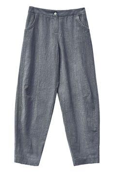 Women Casual Pencil Pants Linen Trousers K7055