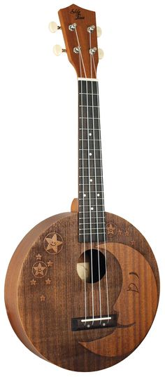 Eddy Finns new Moon roundbody Concert Ukulele  Lardys Ukulele of the day 2017  --- https://www.pinterest.com/lardyfatboy/