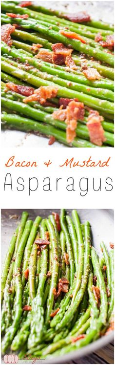 This Bacon and Mustard Asparagus is the perfect side dish for any occasion. Simple, yet delicious asparagus for weeknights or special events.