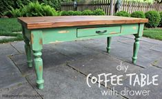 """""""C"""" is for Coffee Table (with drawer)"""