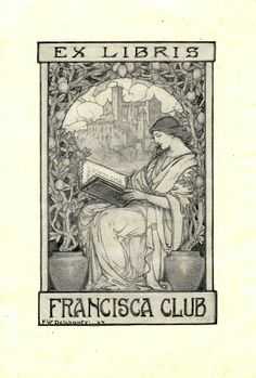 Confessions of a Bookplate Junkie: Frances W. Delehanty