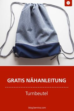 Sew gym bag - a simple and adaptable sewing instruction - Free sewing instructions: gym bag # Nähanleitung # Near makes you happy bag - Sewing Hacks, Sewing Tutorials, Sewing Patterns, Sewing Tips, Sewing Projects For Beginners, Diy Projects, Crochet Blanket Patterns, Free Sewing, Sewing Techniques