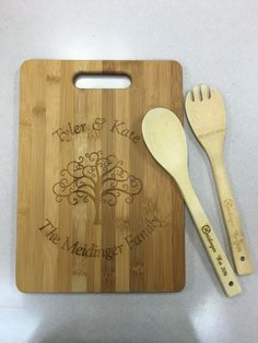 Bamboo Cutting Board and Serving Set