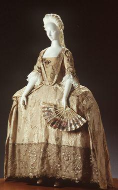 Silver Embroidered Robe a la Française, ca. 1760via Powerhouse...
