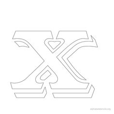 Print Free Alphabet Stencils Vintage X