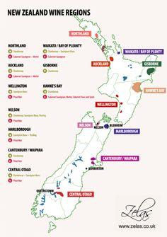 New Zealand Wine Regions. #Wine #Newzealandwines #Travel
