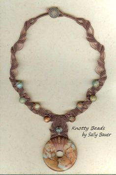 Naturally Appealing Jasper Necklace Natural by KnottyBeadsbySally