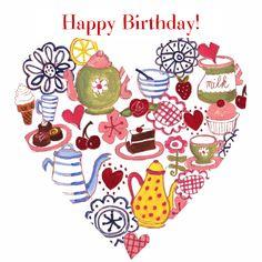 Verjaardagskaarten - Gefeliciteerd Tea Hart by Cartita Desi