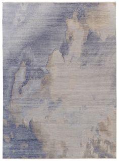 Luke Irwin | Clouds – Winter, hand knotted rug