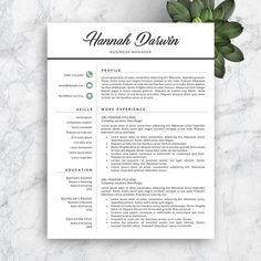 Creative Resume Template Download Add Your Text And Your Cv Is