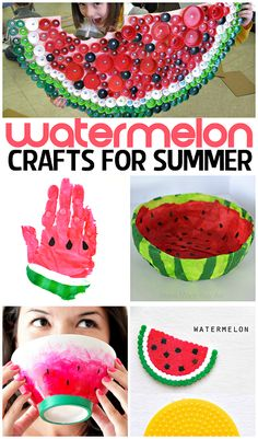 Watermelon Crafts & DIY Projects for Summer | CraftyMorning.com
