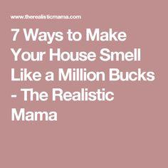7 Ways to Make Your House Smell Like a Million Bucks - The Realistic Mama