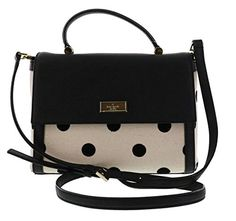 Kate Spade New York Bixby Place Fabric Brynlee Convertible Shoulder Bag Satchel BlackNatural Dot *** Click on the image for additional details.Note:It is affiliate link to Amazon.