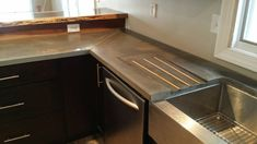 Outdoor Kitchen Countertops, Kitchen Countertop Materials, Concrete Countertops, Concrete Counter Tops Kitchen, Granite Countertops Colors, Kitchen Counters, Kitchen Sink, Outdoor Kitchen Design, Outdoor Kitchens