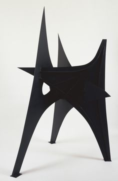 ALEXANDER CALDER, TROIS PICS 1967: sheet metal, bolts and paint.