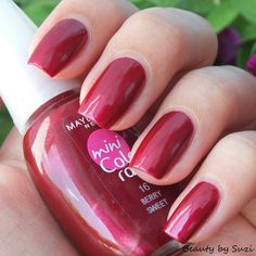Maybelline Mini Colorama, 16 Berry Sweet #catrice #nails